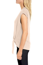 Load image into Gallery viewer, Apricot Surplice Bowknot Tank Top