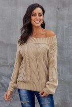 Load image into Gallery viewer, Khaki Chunky Oversized Pullover Sweater