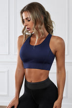 Load image into Gallery viewer, Blue Wireless Performance Knitted Sports Bra
