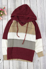 Load image into Gallery viewer, Wine Beach Bonfire Knitted Hoodie
