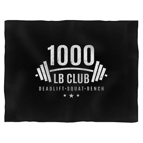 1000 Lb Club Weightlifting Fleece Blanket
