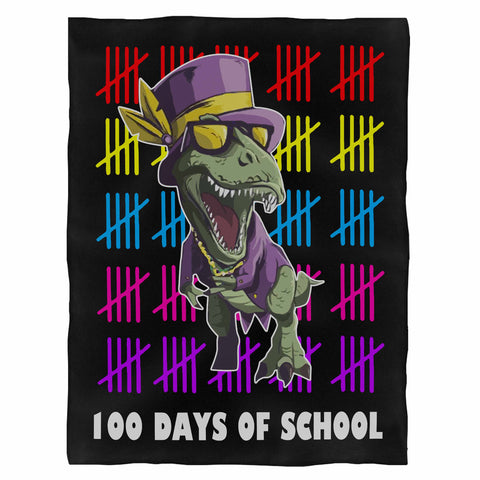 100 Days Of School Fleece Blanket