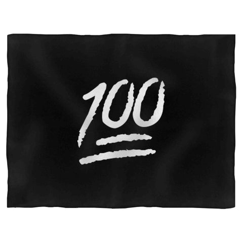 100 Emoji Christmas Funny Emoticon Fleece Blanket