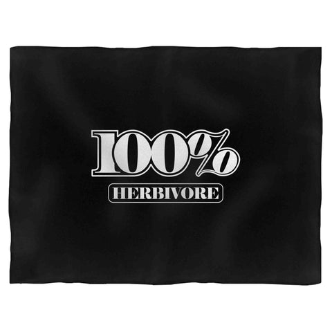 100% Herbivore Vegan Vegetarian 2 Fleece Blanket