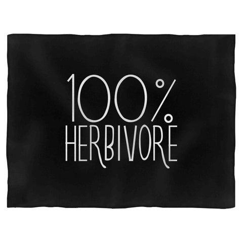 100% Herbivore Vegan Vegetarian Fleece Blanket