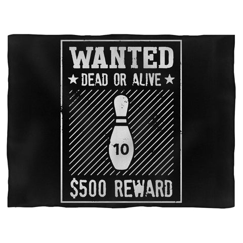 10 Pin Wanted Bowling Fleece Blanket