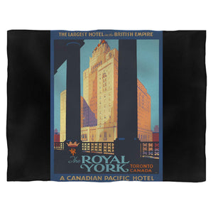 1920'S Vintage Royal York Hotel Fleece Blanket