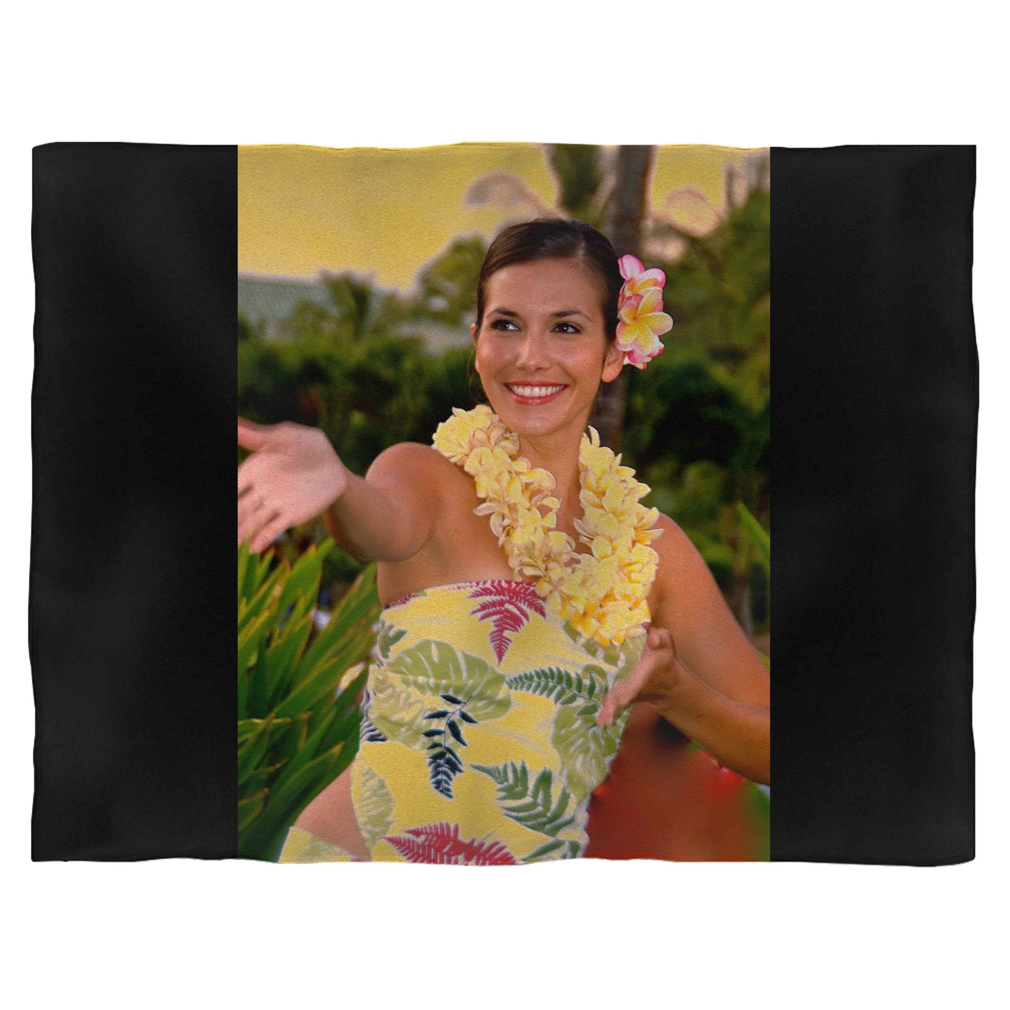 1950'S Aloha Hawaii Fleece Blanket