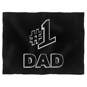 1 Dad Number One 1 Dad Jerry Seinfeld Seinfeld Father'S Day Fleece Blanket