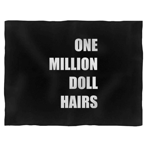 1 Million Doll Hairs Christmas Holiday Birthday Presents Comedy Fleece Blanket