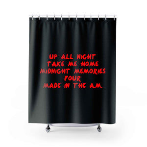 1D Albums Shower Curtains