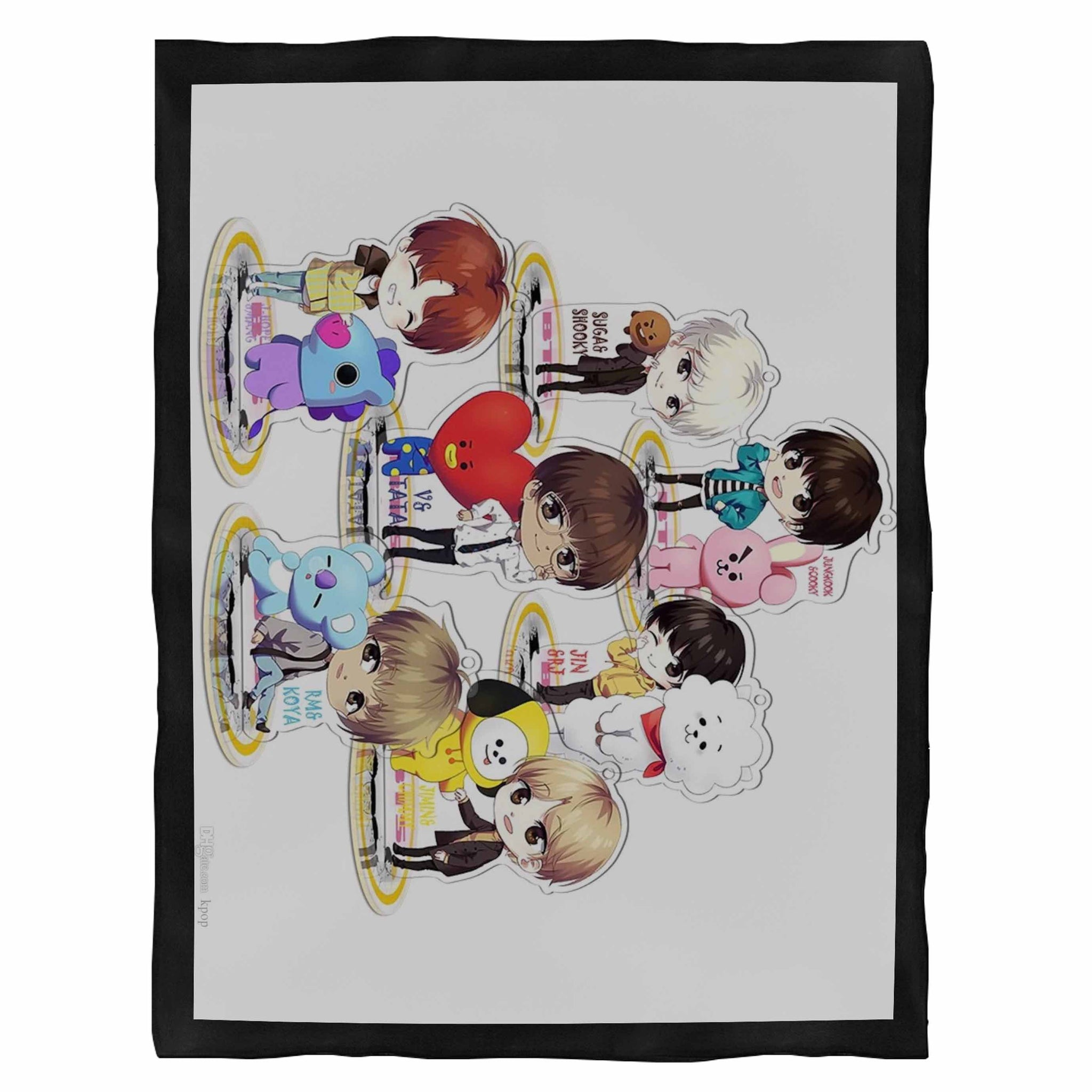 2020 Bts Bt21 Member Cartoon Standee Kpop  Indoor Wall Tapestry