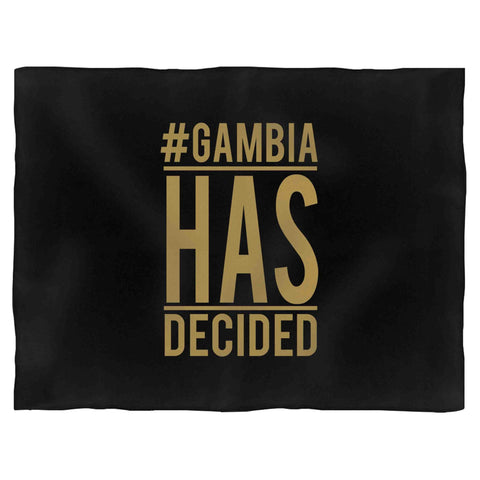 #Gambiahasdecided Fleece Blanket