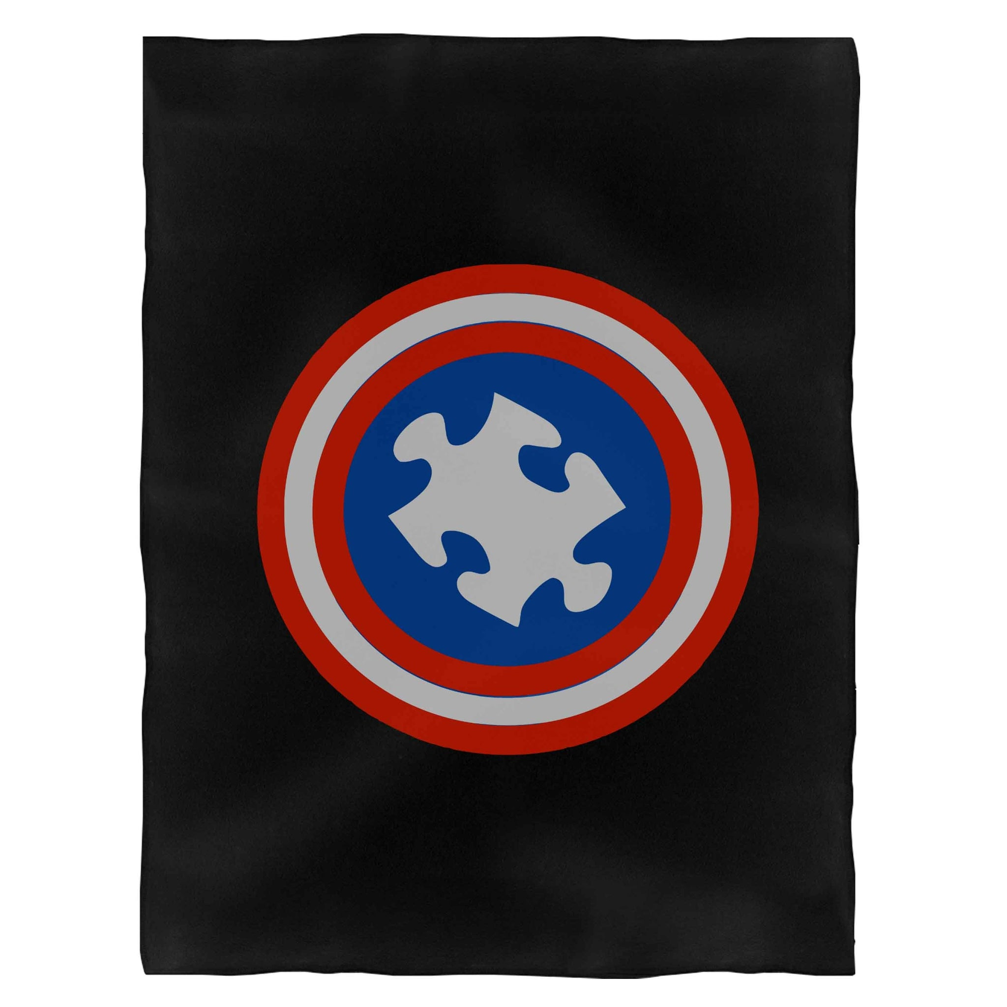 Captain Autism Funny Fleece Blanket