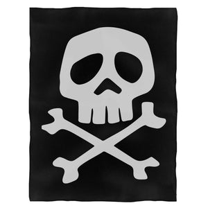 Captain Harlock Skull And Crossbones Fleece Blanket