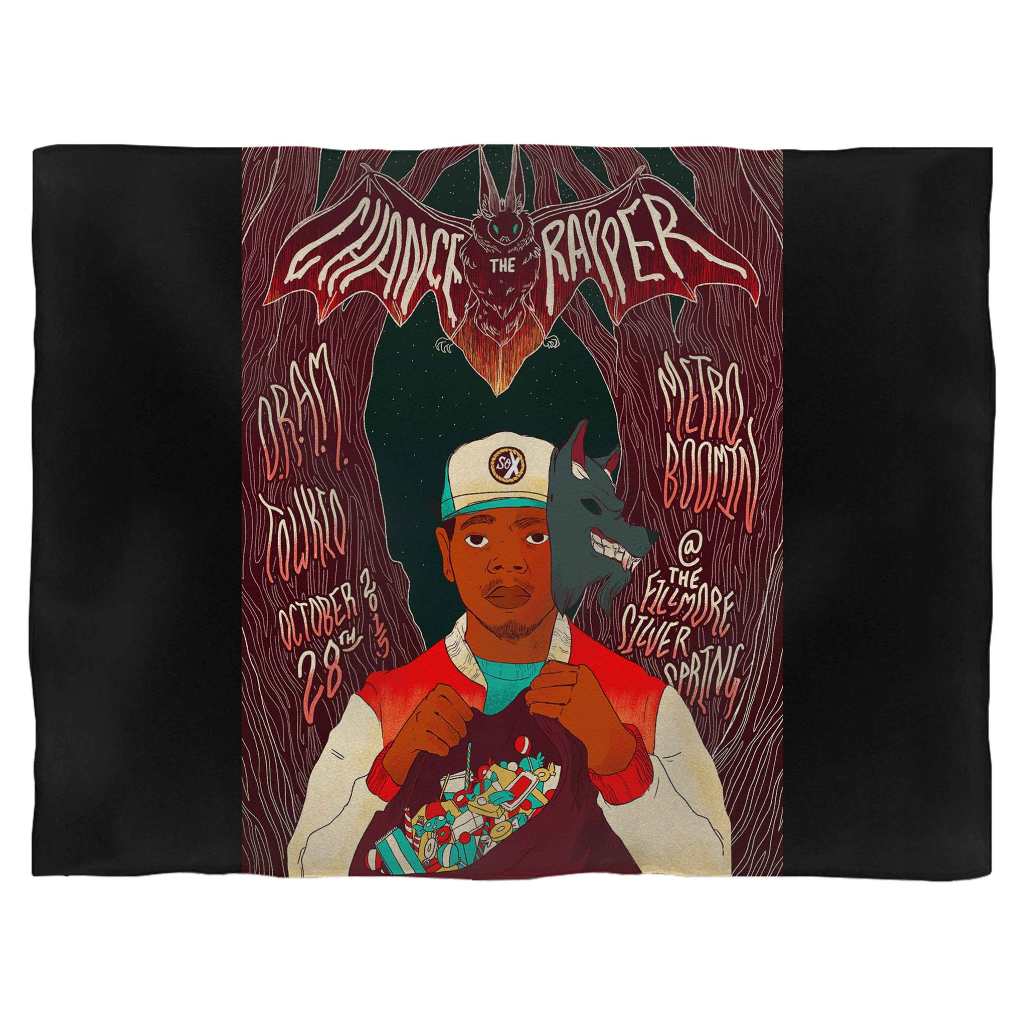 Chance The Rapper On Behance Fleece Blanket