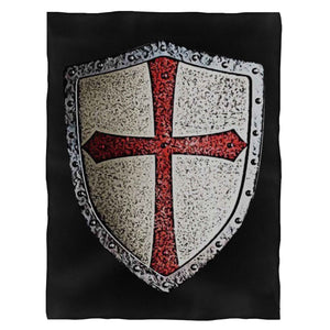 Chevalier Templier Bouclier Fleece Blanket