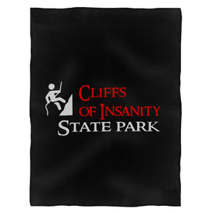 Cliffs Of Insanity State Park Fleece Blanket