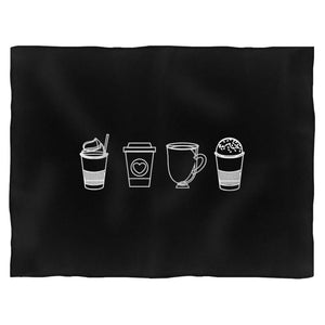 Coffee Graphics Fleece Blanket