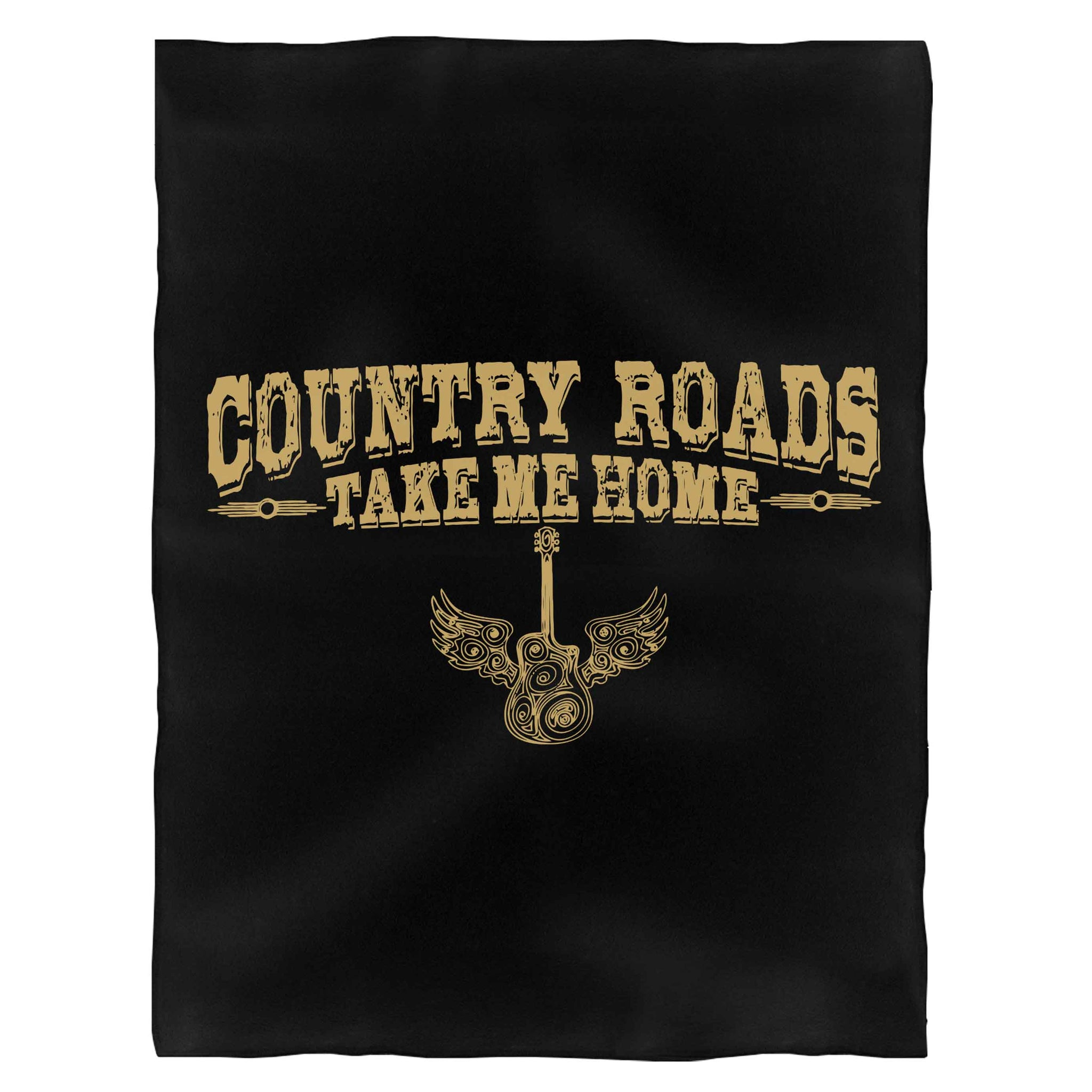 Country Roads Take Me Home Fleece Blanket