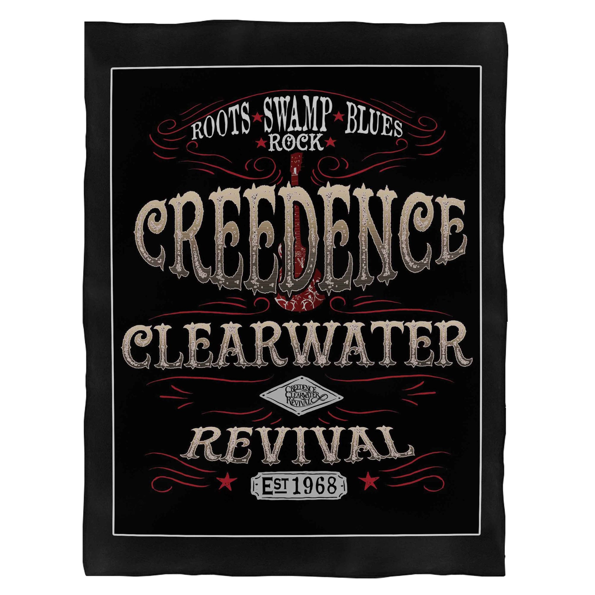 Creedence Clearwater Revival Inspired Swamp Rock Fleece Blanket