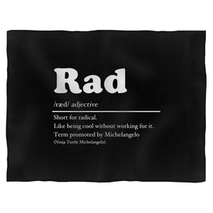 Definition Of Rad Fleece Blanket