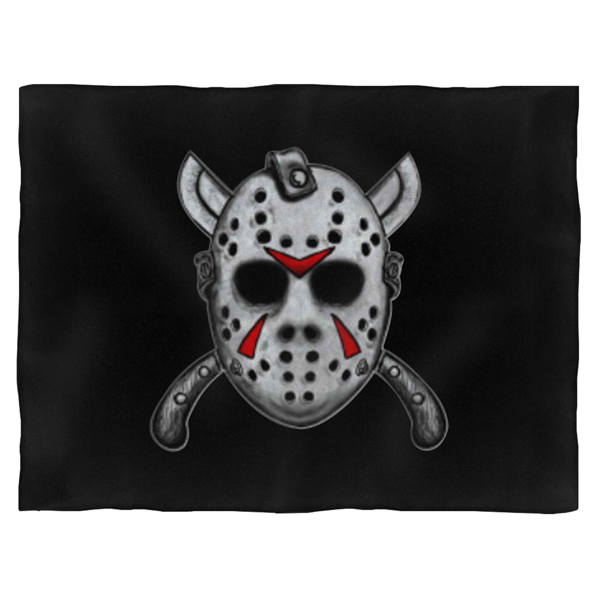 Friday The Thirteenth Jason Mask Fleece Blanket