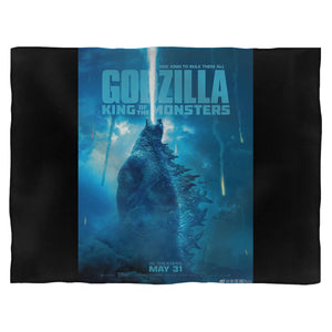 Godzilla King Of The Monsters 3 Fleece Blanket