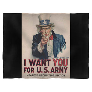 I Want You For U.S.Army Nearest Recruiting Station 1 Fleece Blanket