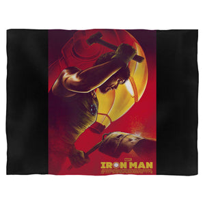 Iron Man Marvel Movie Superhero Fleece Blanket