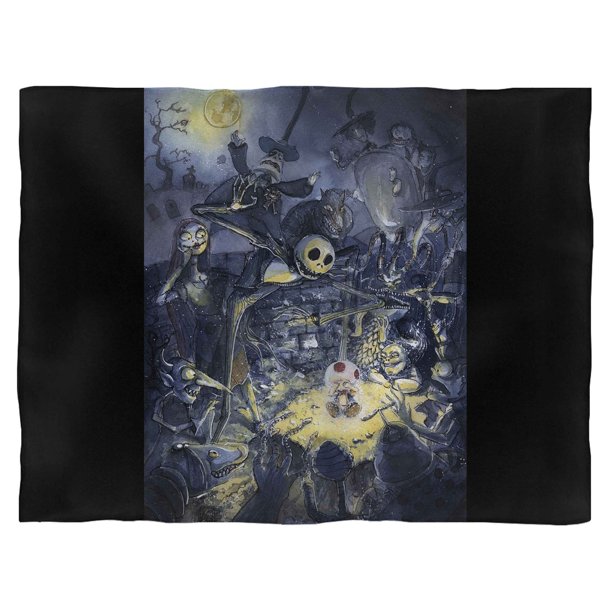Jack And Sally Skellington Friend Fleece Blanket