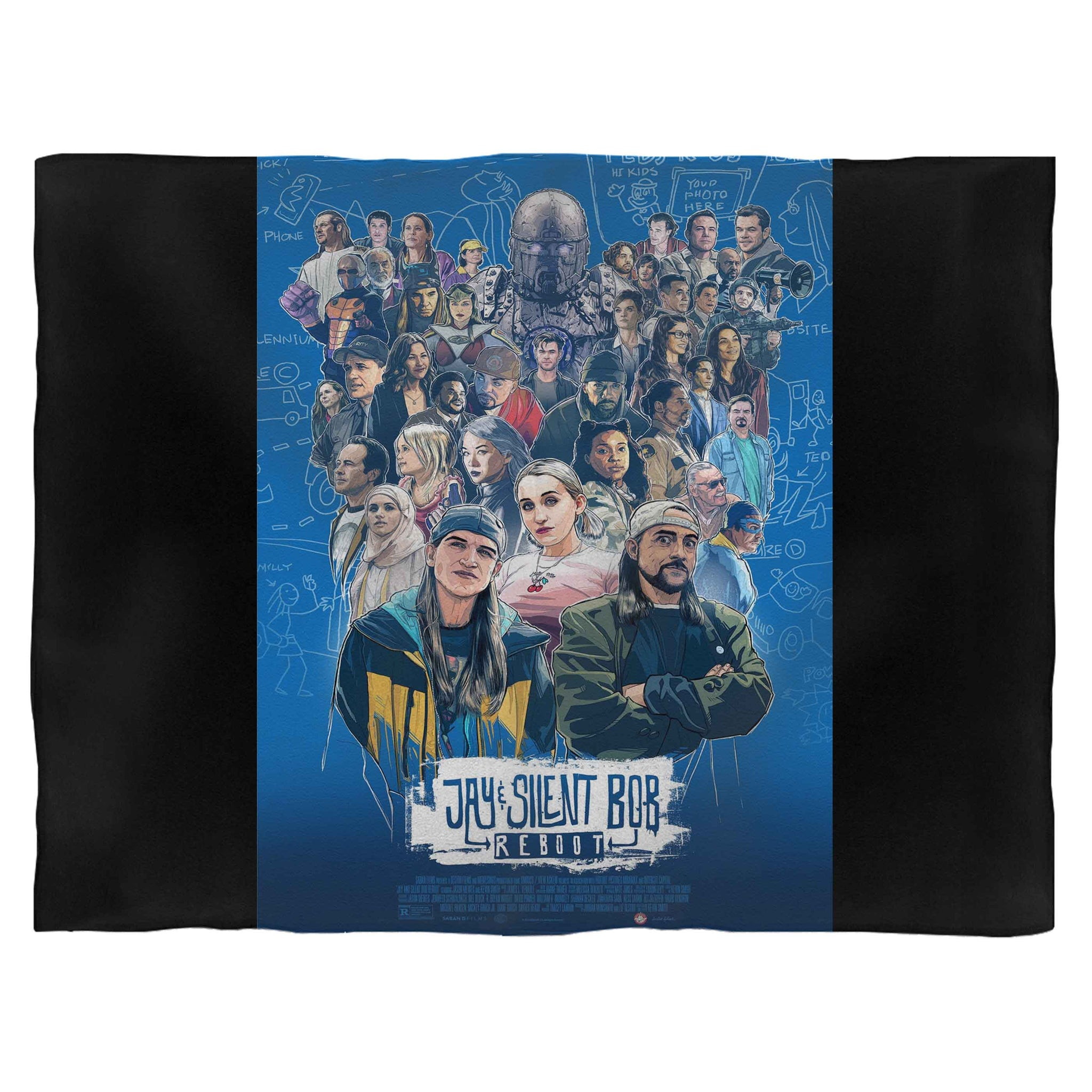 Jay And Silent Bob Reboot Fleece Blanket