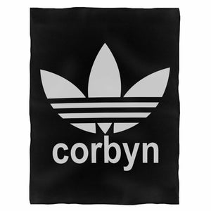 Jeremy Corbyn Labour Election Adidas Parody Funny Fleece Blanket