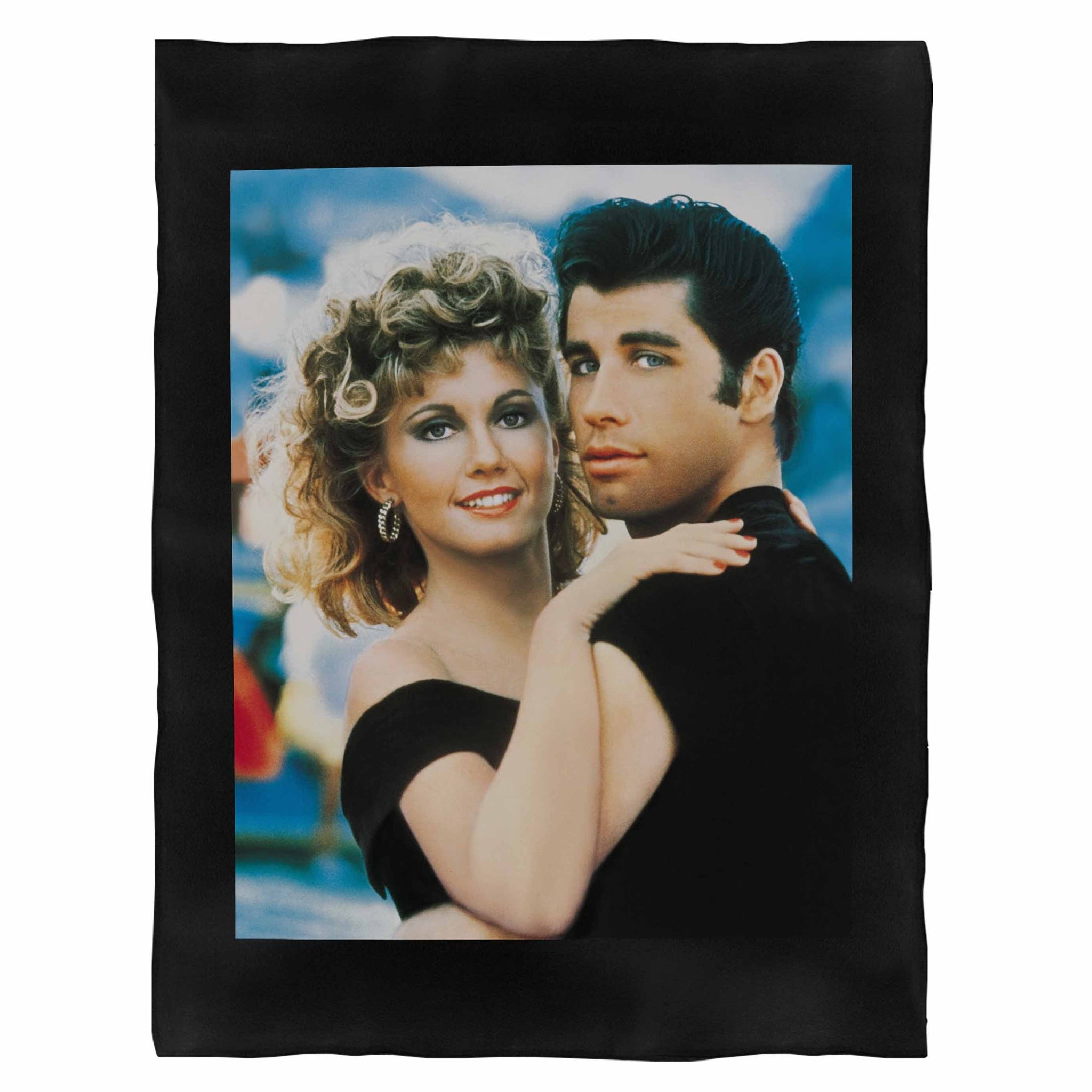 John Travolta And Olivia Newton John Grease Movie Fleece Blanket