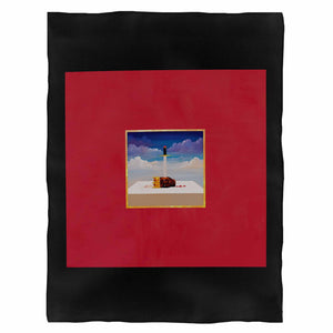 Kanye West My Beautiful Dark Twisted Fantasy Fleece Blanket
