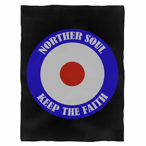Keep The Faith Mod Target Northern Soul Scooter Fleece Blanket