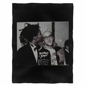 Keith Haring X Jean- Michel Basquiat Fleece Blanket