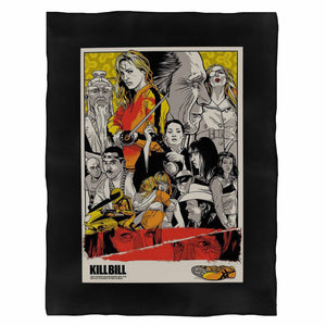 Kill Bill Poster Tarantino Film Cult Tee Sketch Movie Fleece Blanket