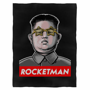 Kim Jong Un Rocket Man Funny Fleece Blanket