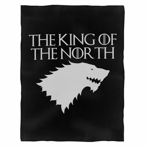King Of The North Game Of Thrones Stark House North Fleece Blanket