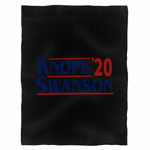 Knope Swanson 2020 Campaign Fleece Blanket