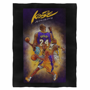 Kobe Bryant Nba Basketball Fleece Blanket