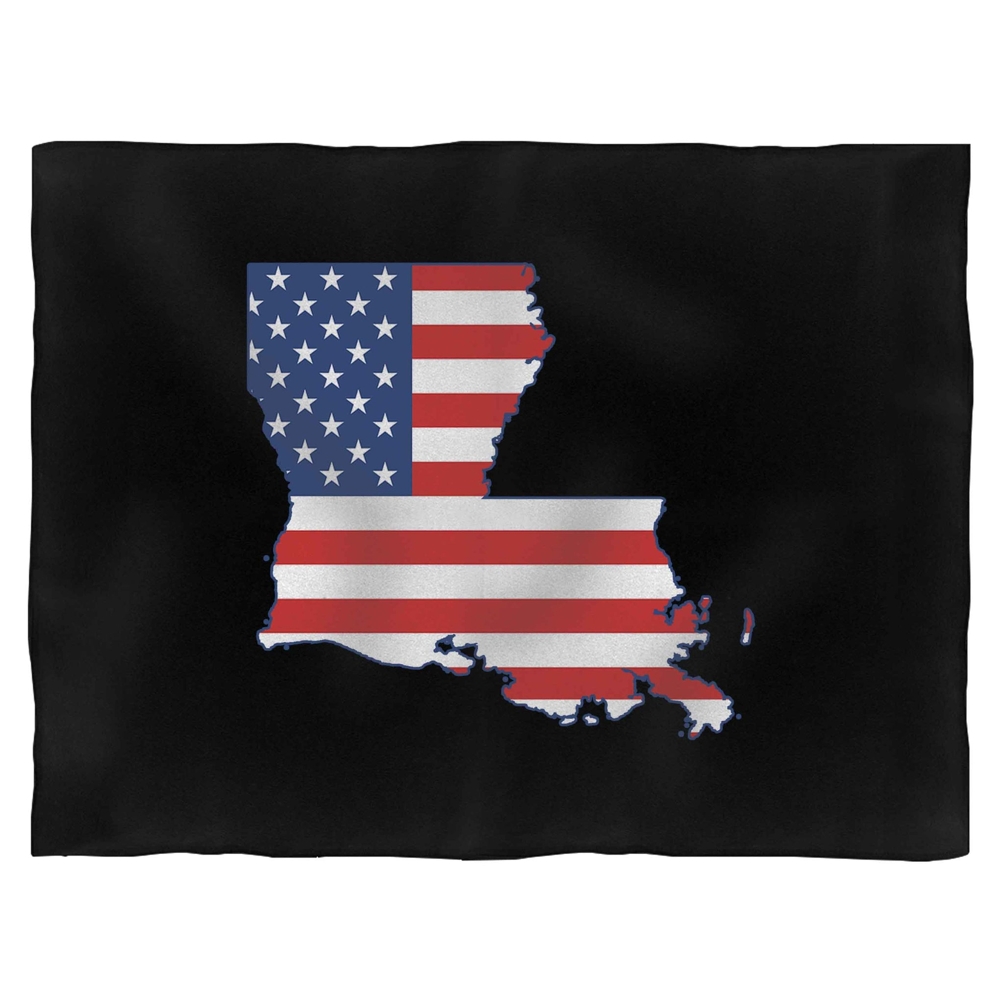 Louisiana American Flag Fleece Blanket