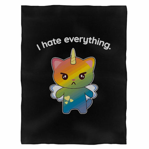 Magical Kitten I Hate Everything Indoor Wall Tapestry