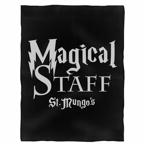 Magical Staff St Mungo'S Harry Potter Inspired Indoor Wall Tapestry