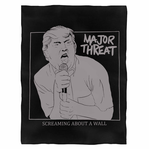 Major Threat Screaming About A Wall Indoor Wall Tapestry