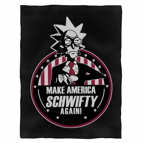 Make America Schwifty Again Rick & Morty President 2020 Indoor Wall Tapestry