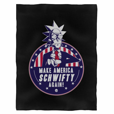 Make America Schwifty Again Vote Rick Sanchez Indoor Wall Tapestry