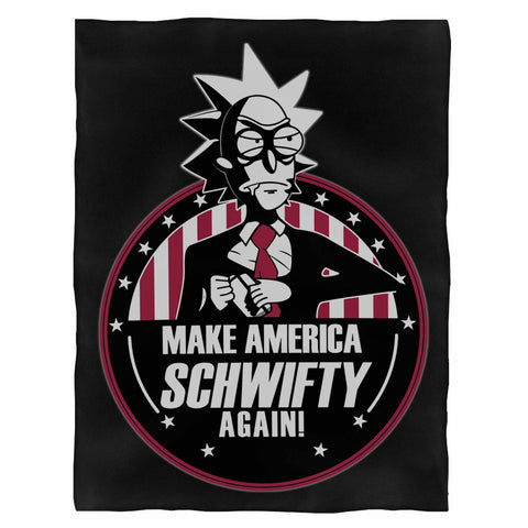 Make America Schwifty Again Vote Rick Sanchez Rick & Morty Season 3 Indoor Wall Tapestry