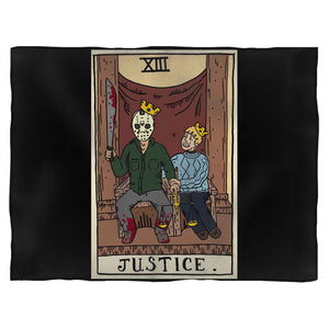 Men'S Horror Arcana - Justice Fleece Blanket